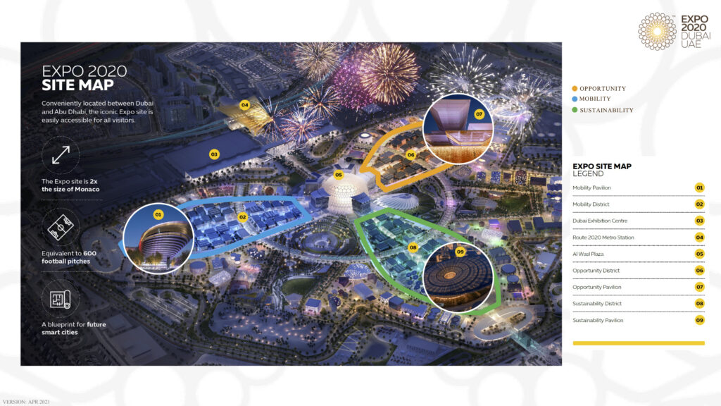 Expo 2020 map