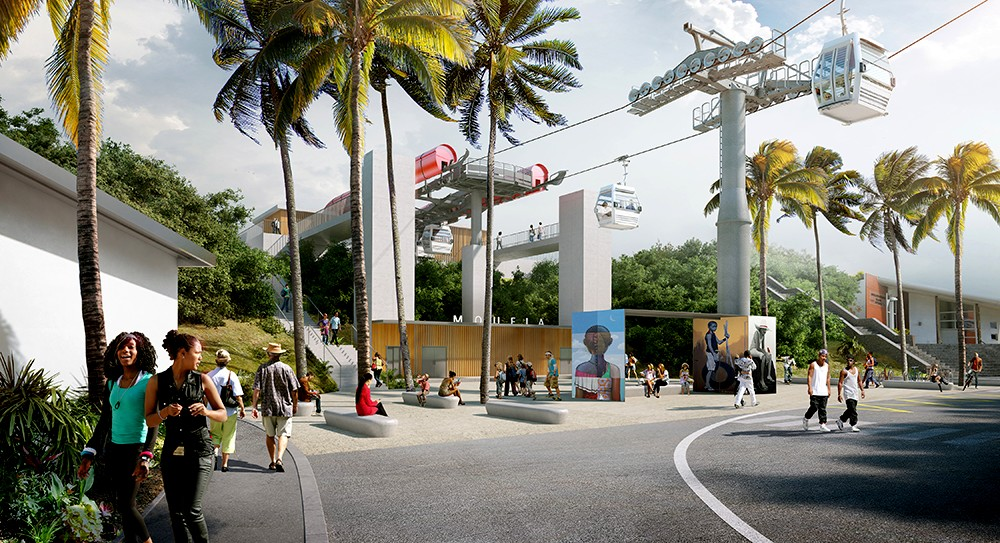 La Réunion Island will have a dedicated network of cable cars in Saint-Denis.