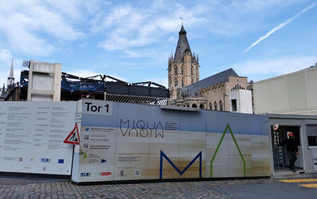 Construction site of MIQUA museum, Cologne